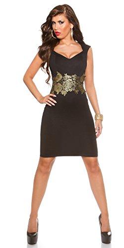 In-Stylefashion - Vestido - cuello hálter - para mujer negro