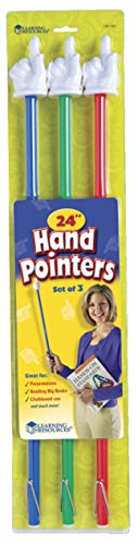 Learning Resources 24-Inch Hand Pointers, Set of 3