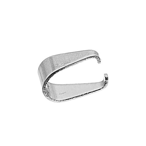 HOUSWEETY Stainless Pendant Clasps 9 7mmx9 0mm
