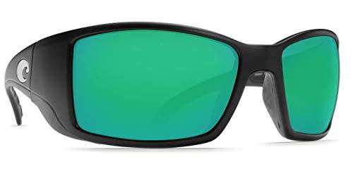 Mar Blackfin Green W580 Glass Black Costa Mirror Sunglasses Matte Del EYqqBw5