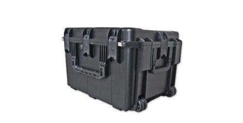 SKB 3I-2317-14BC Wheels and Cubed 3I-2317-14B-C Mil-Std Waterproof Case with Wheels & Cubed Foam, Black