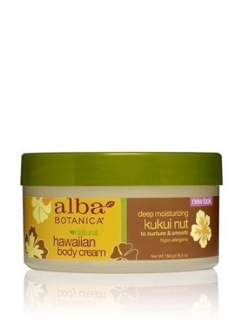 Alba Botanica Deep Moisturizing Kukui Nut Hawaiian Body Cream, 6.5 Ounce - Cream Nut Kukui Hawaiian Body