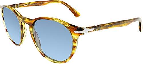 Persol PO3152S 904356 Striped Brown/Yellow PO3152S Round Sunglasses Lens ()
