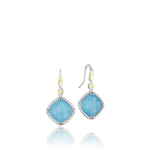 Tacori SE137Y05 Island Rains Sterling Silver Synthetic Turquoise Drop Earrings ()
