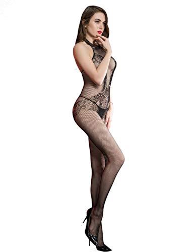 Silky Cindy Jennifer Bodystocking-One Size-Black