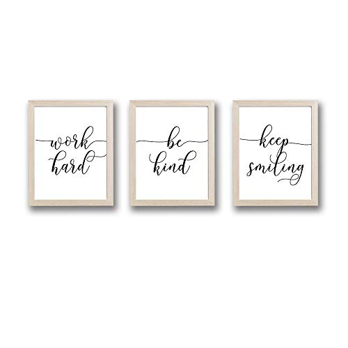 Framed Inspirational Quotes Art Print Set of 3 (10