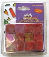 Jennifer's Mosaics 5-Ounce Red Iridescent Stained Glass Chips, Red