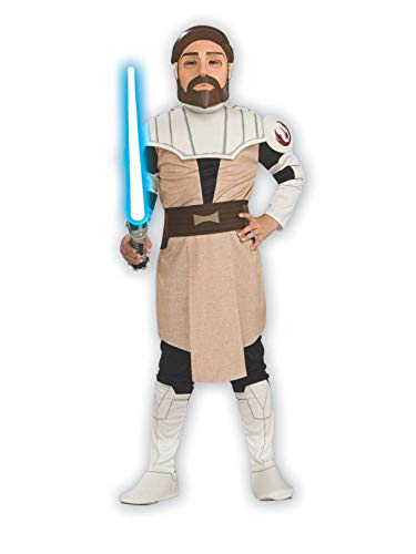Rubie's Star Wars Clone Wars Child's OBI-Wan Kenobi Costume and Mask, Medium
