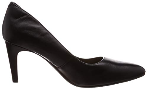 Nero Leather Scarpe Con Laina Donna Tacco Rae Clarks black 7q8Y4