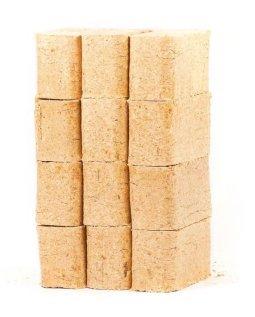 Larch Briquettes 10kg (Pack 12) Fuel for Stove Chimenea Fire Pit reservoir logs