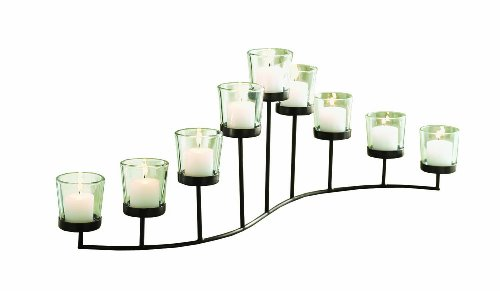 Cheap  Tag Turning Leaves S-Shaped Votive Candle Holder, 24.25