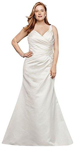 Plus Size Satin Mermaid Wedding Dress