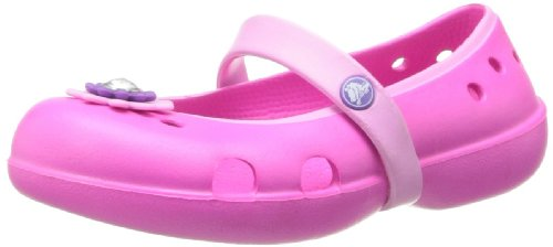 crocs Keeley Petal Flat KEELEY PETAL FLAT - K - Bailarinas, color azul, talla 20/21 Rosa (Neon Magenta/Carnation)