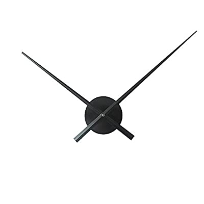 Timelike 3D Clock Hands, DIY Large Clock Hands Needles Wall Clocks 3D Home Art Decor Quartz Clock Mechanism Accessories - Hour hand length: 23.5cm ; Minute hand length: 31.5cm Powered by 1*AA battery(not including) Simple Design: Cool clock has an open design with just minute and hour hands. - wall-clocks, living-room-decor, living-room - 31XoX8MObHL. SS400  -