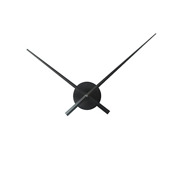 Timelike 3D Clock Hands, DIY Large Clock Hands Needles Wall Clocks 3D Home Art Decor Quartz Clock Mechanism Accessories - Hour hand length: 23.5cm ; Minute hand length: 31.5cm Powered by 1*AA battery(not including) Simple Design: Cool clock has an open design with just minute and hour hands. - wall-clocks, living-room-decor, living-room - 31XoX8MObHL. SS570  -