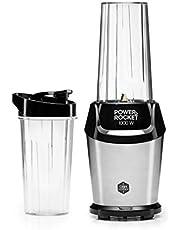 OBH Nordica - Blender Power Rocket - boissons et smoothies - Design vintage rétro et élégant - 2 gourdes 500 et 700 ML - 1000W - blanc