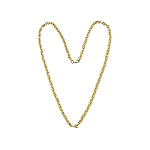 Best Epic Trends 31XoZqE%2BZRL._SS300_ 14K Solid Yellow Gold 3.5mm Oval Mariner Link Chain Necklace- Multiple Lengths Available