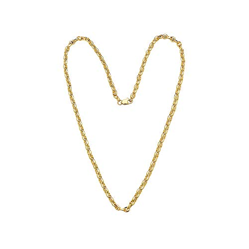 14K Solid Yellow Gold 3.5mm Oval Mariner Link Chain Necklace- Multiple Lengths Available (20)
