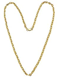 14K Solid Yellow Gold 3.5mm Oval Mariner Link Chain Necklace- Multiple Lengths Available