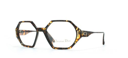 Christian Dior 2597 10 Black and Yellow Authentic Women Vintage Eyeglasses - Dior 2014 Frames Glasses