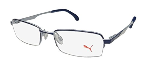 Puma 15418 Mens/Womens Spring Hinges Modern Durable Fashion Accessory TIGHT FIT Designed For Young Men & Women Optimal For Sports Eyeglasses/Eyeglass Frame (48-17-140, ()