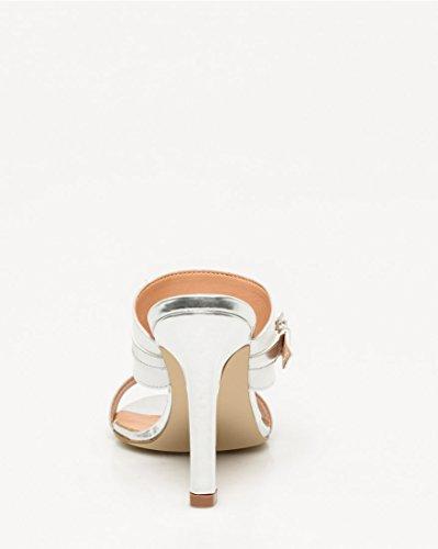 Open White Band Double Leather Women's Mule LE CH Toe TEAU CxPqwnaR