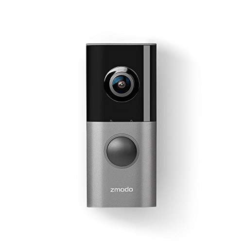 Zmodo Greet Pro Smart Video Doorbell, 1080p Security Camera w/ 180 Degree Viewing Angle, Works with...
