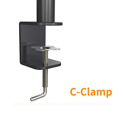 Halter Dual Monitor Stand Desk Clamp for 27-Inch LCD Monitors (YKHL2MNT)