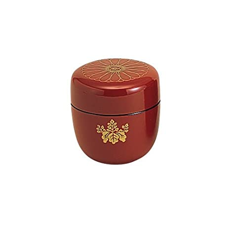 Tokyo Matcha Selection - Natsume Tea Caddy : Japanese Family Crests Design 3 Color [Standard ship by SAL: NO Tracking & Insurance] (Black)