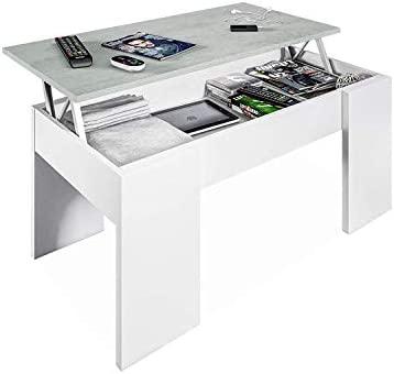 Salón Tienda en línea Kit Mesa Caja 50 X 100 X H Blanco/Cemento ...