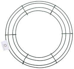 Panacea Bulk Buy Wire Wreath Frame 12 inch Green 36003 (10-Pack) -