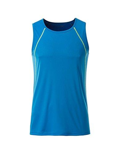 fitness negro Camiseta y 2store24 para hombre verde brillante deportes tirantes de para 4HaA71P
