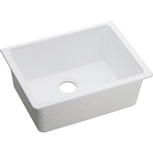 [Elkay ELGU2522WH0 Gourmet Quartz Classic Undermount Sink, White] (White Heat Single Bowl)