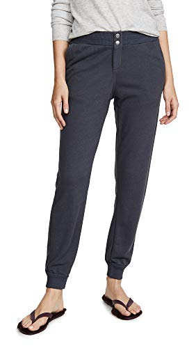 - Monrow Women's Snap Front Joggers, Vintage Black, Small