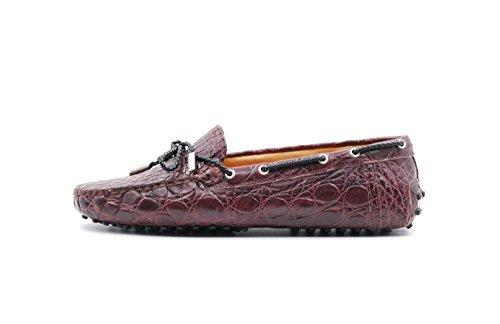 Tienda de venta Zapatos Bajos Sutor Capa Lassi Hechas De Cuero De Cocodrilo Berenjena Gran venta barata en línea yAqQ3X45w
