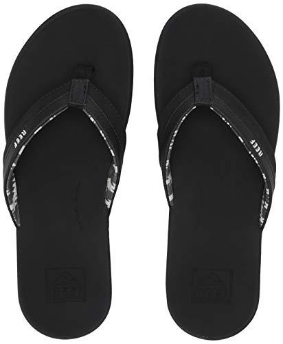 REEF Women's Ortho-Bounce Coast Sandals, Black, Size 10