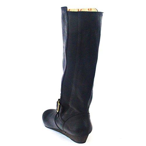 con elasten correa para talla botas 3 De piel fijación detalles negro de Brand negro Lucky lana 5 de de de de £110 tamaño f6qC5xnw4