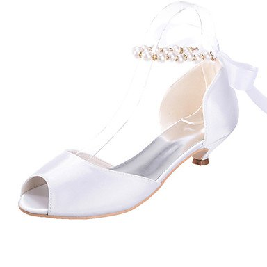 amp;Amp; Sandals Low Heel Shoes US5 Colors EU35 Evening Party Peep Silk UK3 Available Toe Women'S CN34 More Wedding wEzYqfw