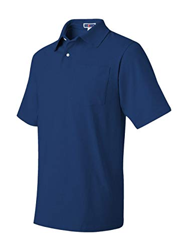 (Jerzees 436p 5.6 Oz, 50/50 Jersey Pocket Polo With Spotshield ROYAL Medium)