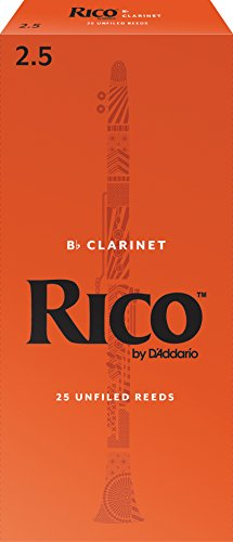 D'Addario Woodwinds Bb Clarinet Reeds, Strength 2.5, 25-pack (RCA2525) from D'Addario Woodwinds
