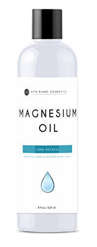 Magnesium Oil Spray 8oz by Kate Blanc. Relieves Sore Muscles, Muscle Spasms, Pain. Absorbs Quickly onto Skin. Pure from the Dead Sea. 1-Year Warranty