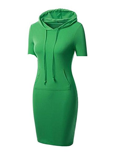 Jollychic - Vestido - trapecio - para mujer verde verde X-Large