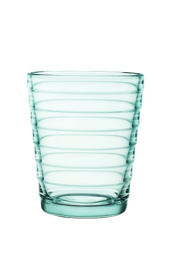 Iittala Aino Aalto Set of Two Glass Tumblers, Water Green, 7-3/4-Ounce Capacity each