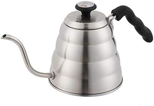 1Lのステンレス鋼304の魔法瓶、温度計ポット和風細かい口を滴下手洗い家庭用コーヒーポット、(2個)
