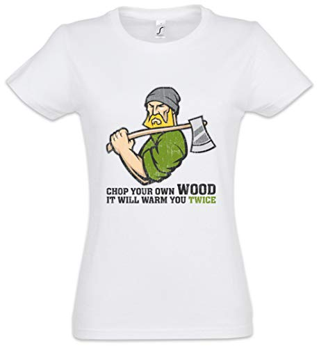 - The Mermaid Conviction Chop Your Own Wood Women T-Shirt Sizes XS - 2XL White