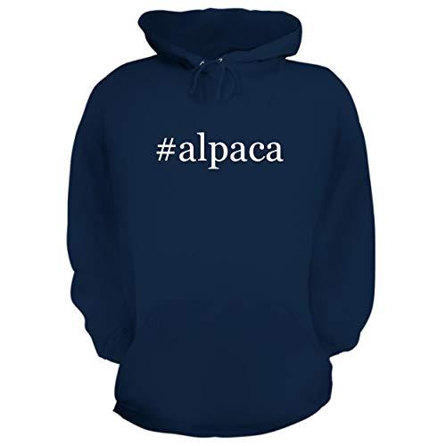BH Cool Designs #Alpaca - Graphic Hoodie Sweatshirt, Navy, XX-Large