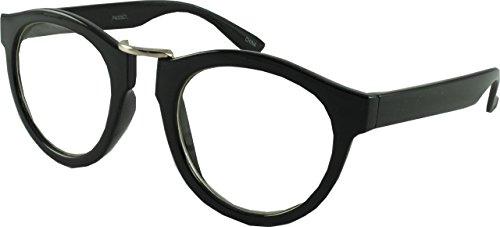 Revive Eyewear Men's Vintage College Preppy Look Geek Black Frame/ Black Lens Non Polarized Glasses - Frames Glasses Preppy
