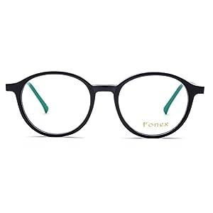 FONEX Round Prescription Eyeglasses Spectacles Myopia Optical Frames Eyewear TB5202