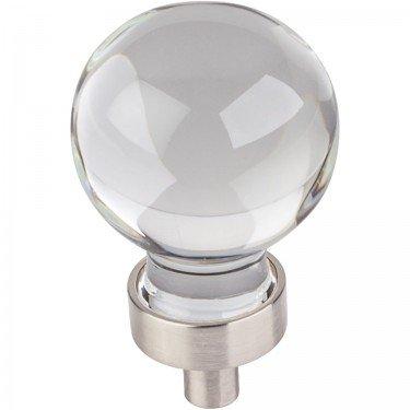 Jeffrey Alexander Harlow 1-1/16'' Dia Glass Sphere Cabinet Knob - G130SN - Satin Nickel