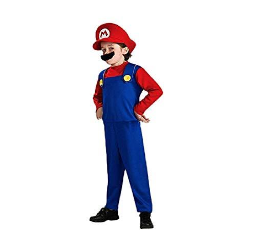 Super Mario Costume Kids Cosplay Costume Mario Brothers